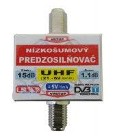 Anténní zesilovač DVB-T UHF 5V 15dB F-F