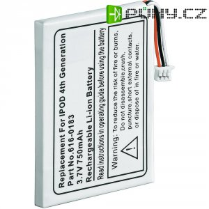 Náhradní Li-Ion akumulátor pro iPod, iPod Photo 4. generace 3,7 V, 750 mAh