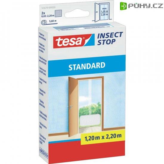 Síť proti hmyzu do dveří Tesa Standard, 55679-20, 1,3 x 2,2 m, bílá - Kliknutím na obrázek zavřete