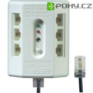ISDN rozvodnice, 6 připojovacích zdířek, s testovací funkcí