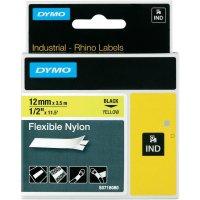 Páska do štítkovače DYMO 18490 (S0718080), 12 mm, IND RHINO, 3,5 m, černá/žlutá