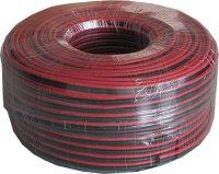 Dvojlinka 2x2,5mm2 13AWG červeno-černá, balení 100m