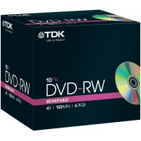 TDK DVD-RW 4,7GB 4X 10 ks JEWELCASE