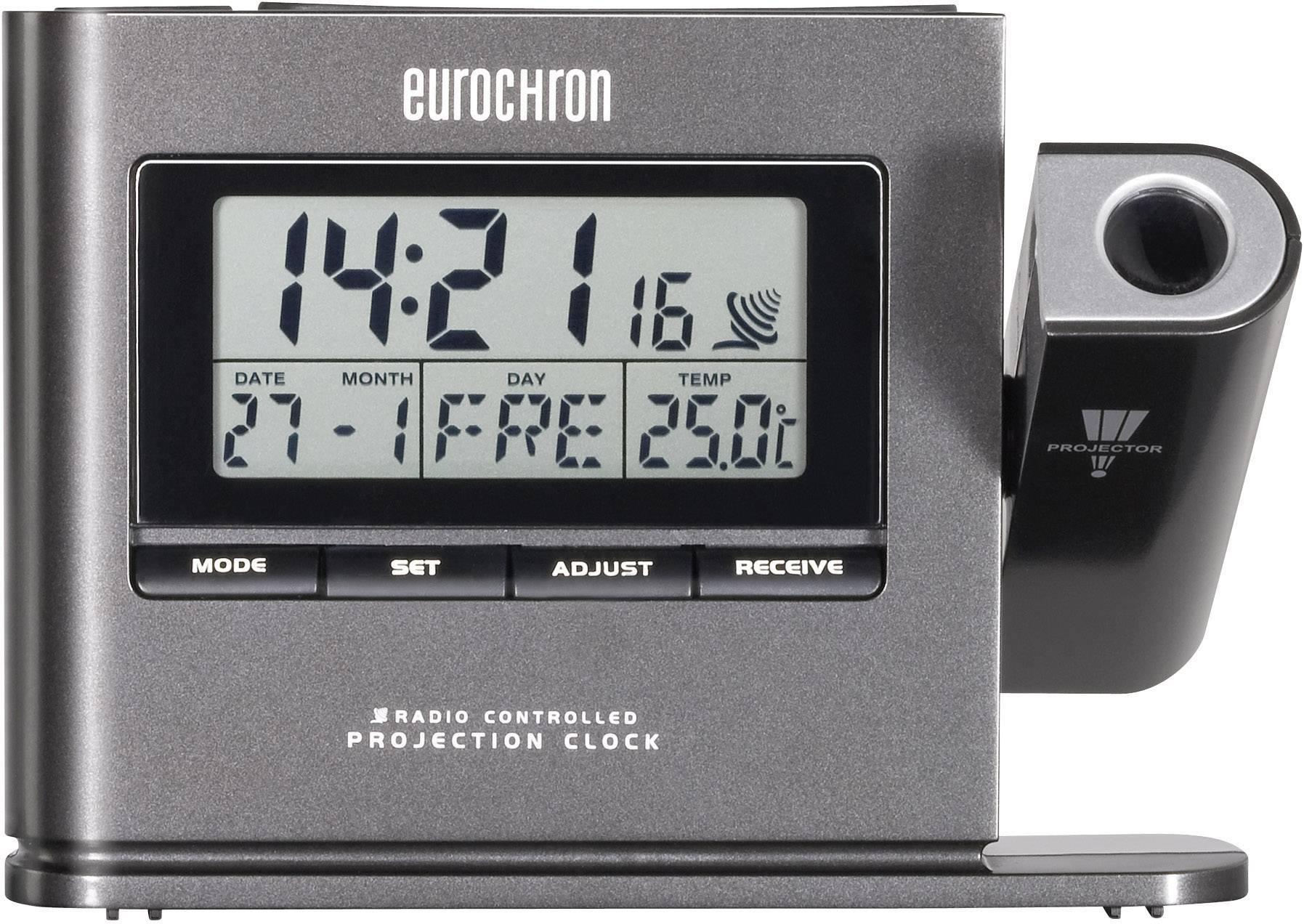 Projekční DCF hodiny Eurochron EFP 3000, tmavě šedá