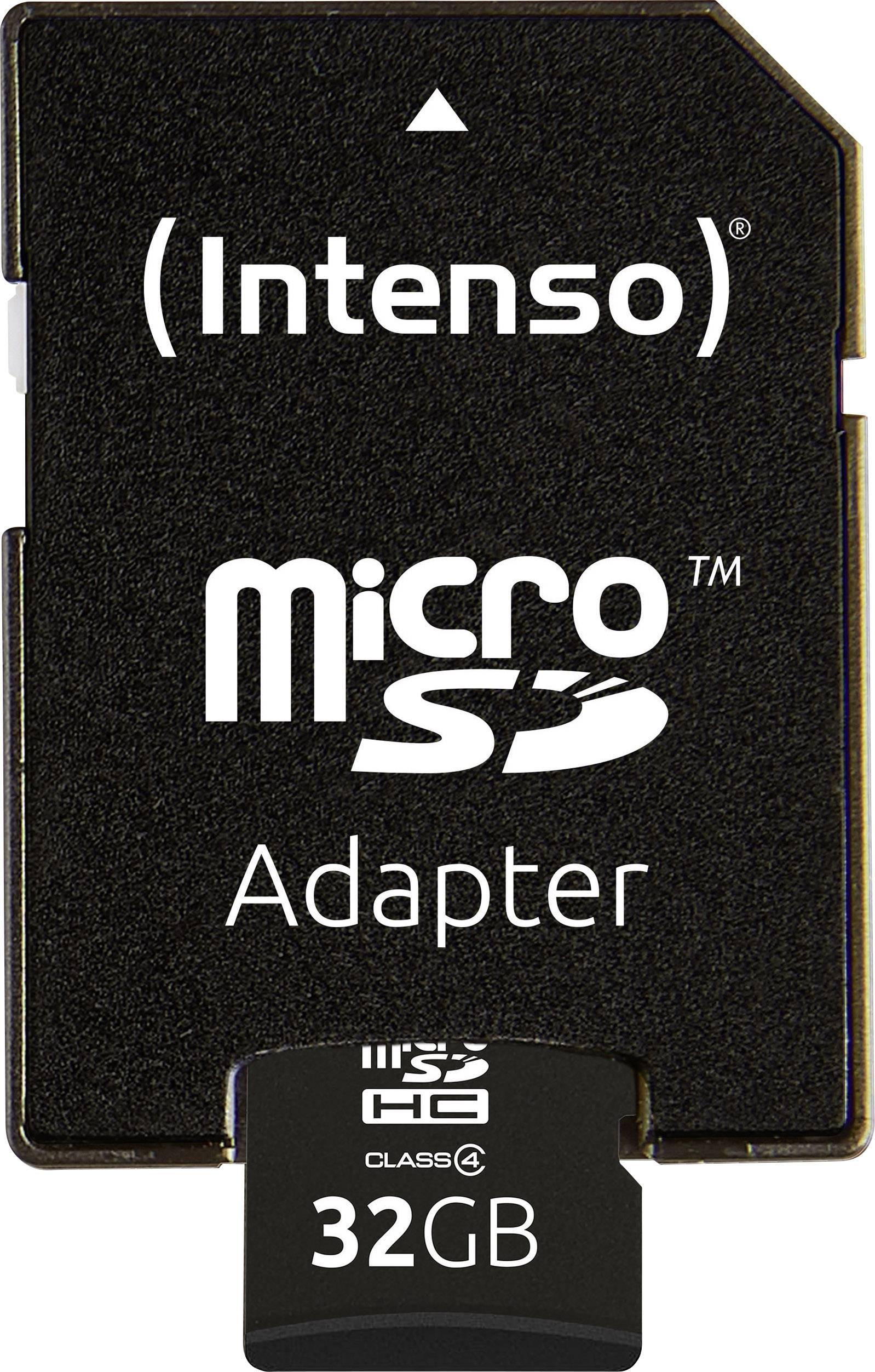 Pamětová karta Intenso microSDHC 32 GB Class 4 + SD