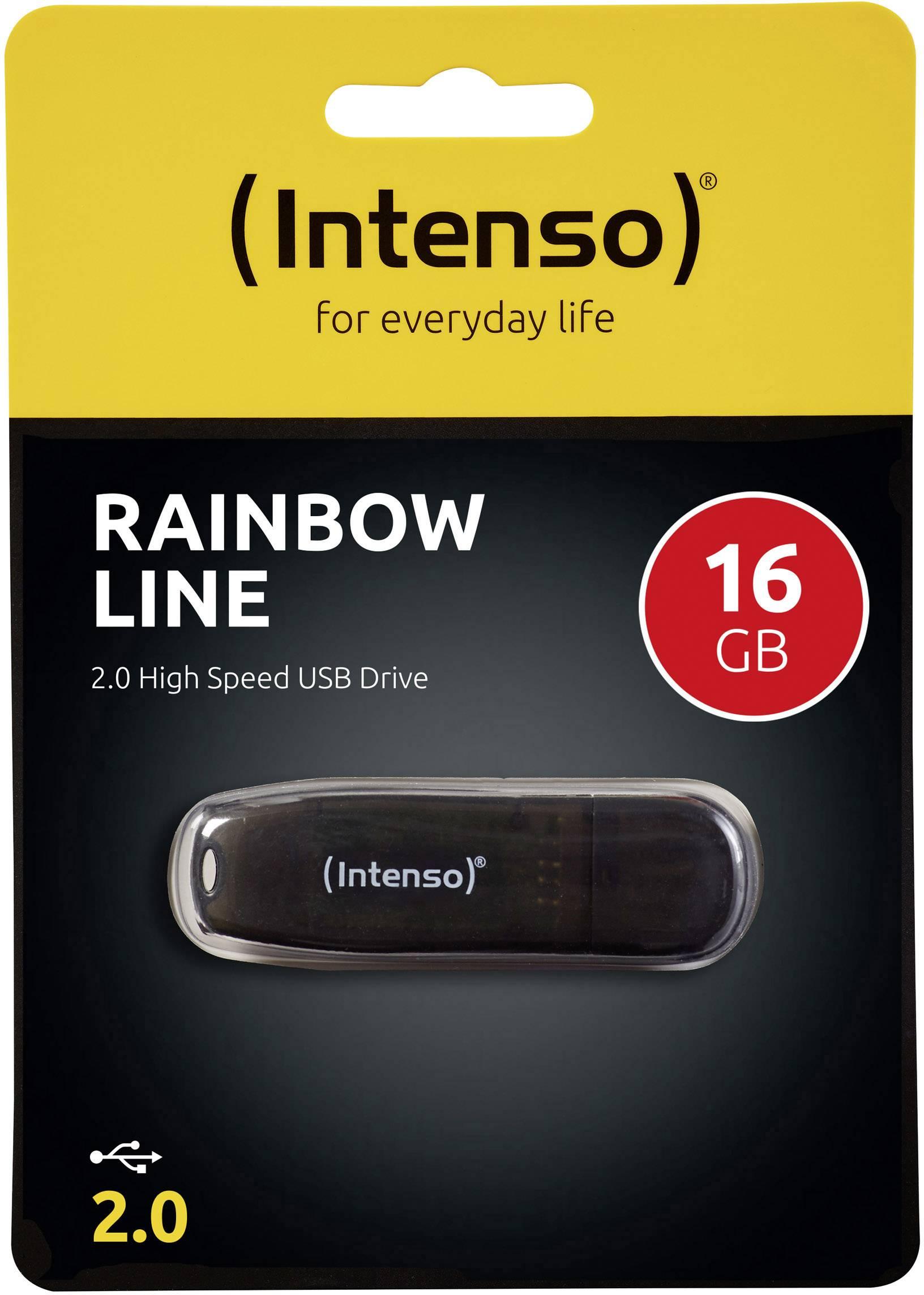 Flash disk Intenso Rainbow Line 16 GB, USB 2.0