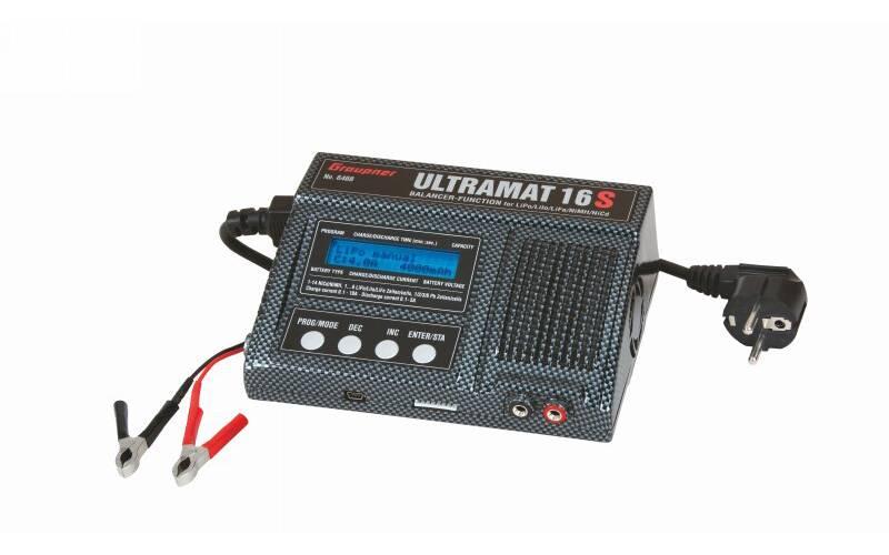 Modelářská multifunkční nabíječka Graupner Ultramat 16S 6468, 12 V, 220 V, 15 A
