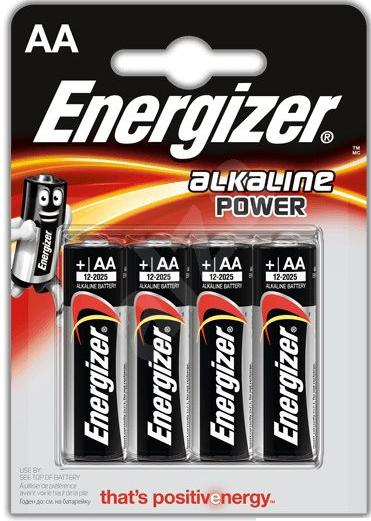 ENERGIZER 4x primární AA baterie, Alkalické bal. 4ks