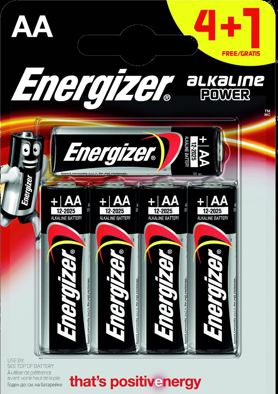 ENERGIZER 5x primární AA baterie, Alkalické bal. 5ks