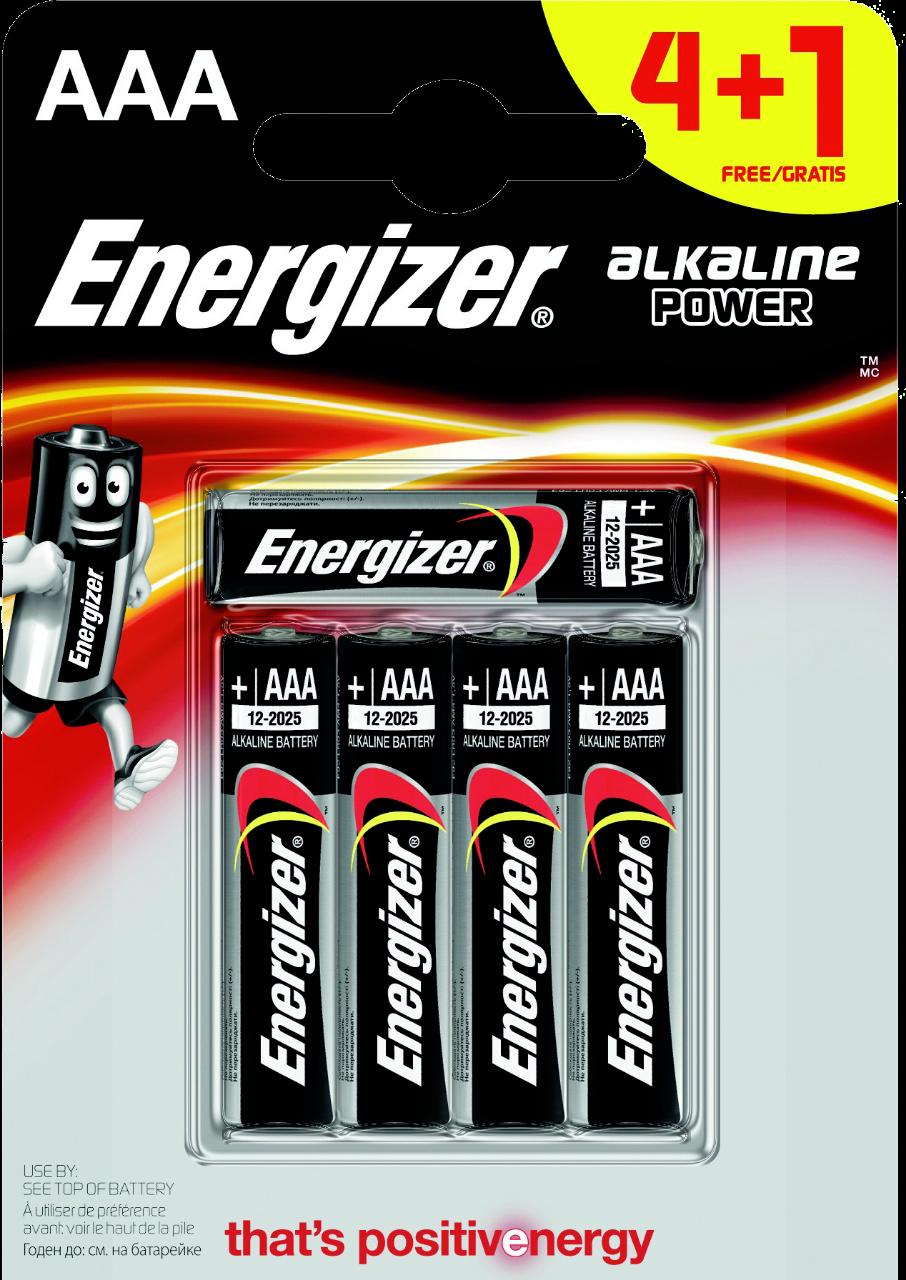 ENERGIZER 5x primární AAA baterie, Alkalické bal. 5ks