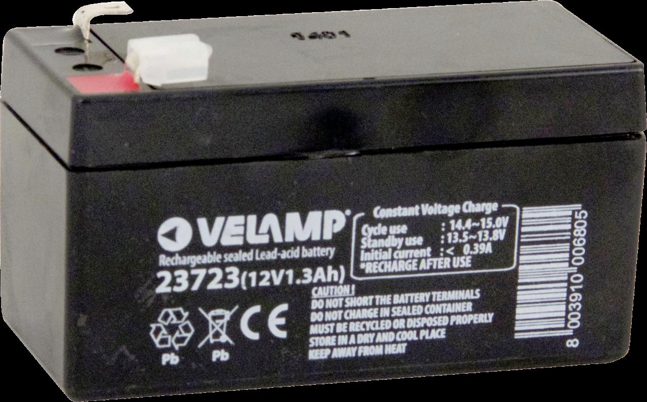 VELAMP 1x olověný 12V 1,3Ah dobíjecí akumulátor 23723