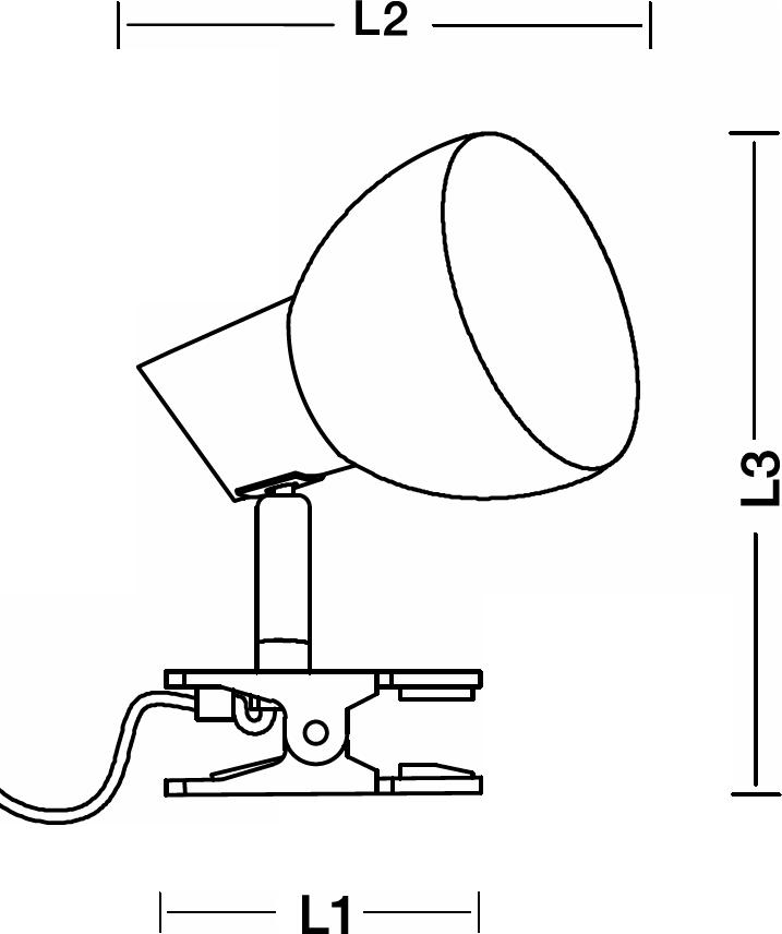 VELAMP kompaktní stolní LED lampička CHARLY TL1401-N