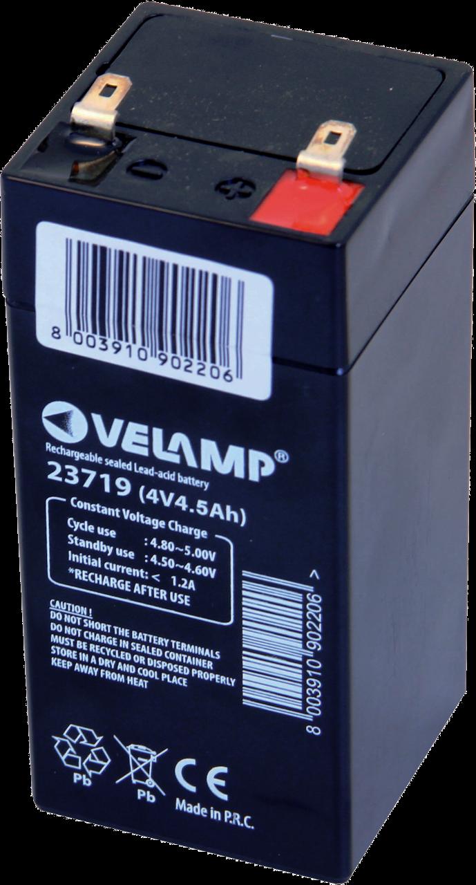 VELAMP 1x olověný 4V 4,5Ah dobíjecí akumulátor 23719