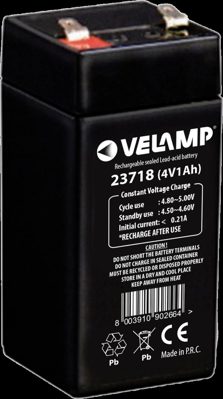 VELAMP 1x olověný 4V 1Ah dobíjecí akumulátor 23718