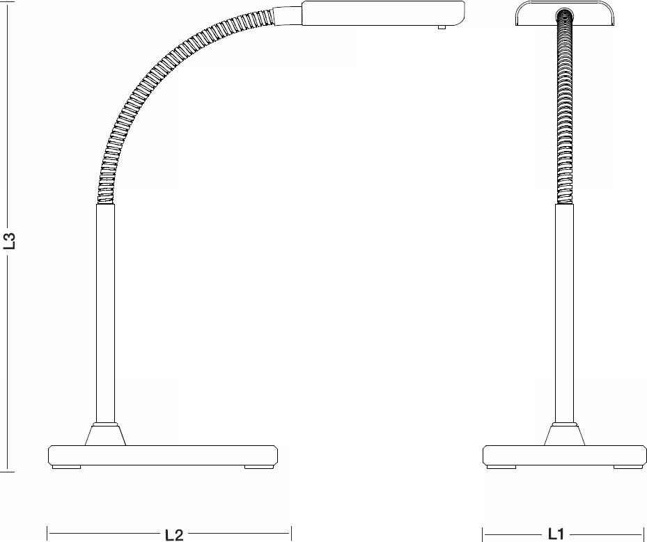VELAMP kompaktní stolní LED lampička KOMPAKT TL1601N