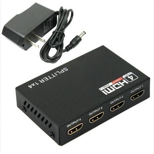 HDMI splitter, 4x1 port 1920x1080 px, černý