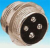 XLR konektor se závitem 4p panelový