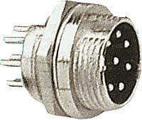 XLR konektor se závitem 8p panelový