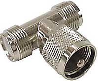 UHF T kus-1x konektor,2x zdířka DOPRODEJ