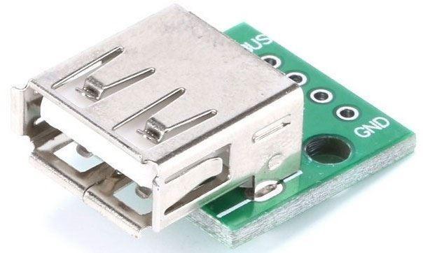 USB zdířka do DPS dvojitá