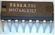 74ALS157 4x 2vstup. multiplexer, DIL16