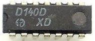 D140D 2x 4vstup. NAND, DIL14 /7440, MH8440/