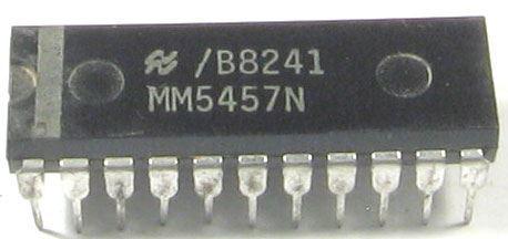 MM5457N - hodinový obvod, DIP28