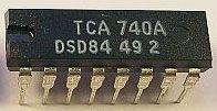 TCA740A - tónové korekce pro nf zesilovače, DIL16 /A274D/
