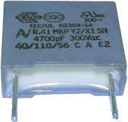 4n7/300V~ KEMET, svitkový kondenzátor radiální