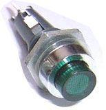 Kontrolka T6e/12 zelená pro telefonní žárovku T5,5