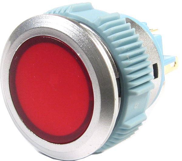 Vypínač stiskací ON-OFF 1pol.250V/1A zelený