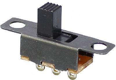 Přepínač posuvný SS-12F15, ON-ON 1pol.50V/0,5A