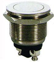 Tlačítko OFF-(ON) 1pol.250V/2A celokovové PBS-28B-2