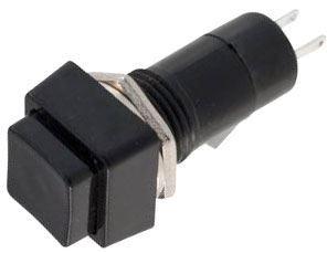 Vypínač stiskací ON-OFF 1pol.250V/1A černý