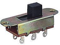 Přepínač posuvný ON-ON 2pólový 250V/3A