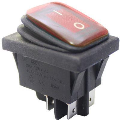 Přepínač kolébkový ON-ON 2pol.250V/15A