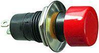 Vypínač stiskací ON-OFF 1pólový 250V/1A červený