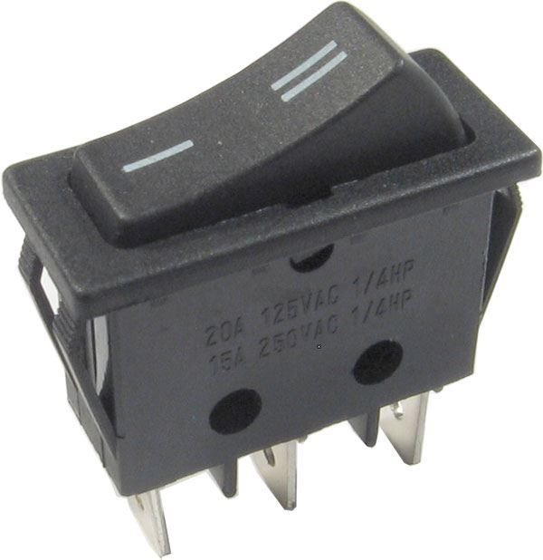 Přepínač kolébkový ON-ON 1pol.250V/16A