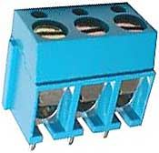Svorkovnice do DPS 3pin šroubovací RM 5mm v=12,5mm