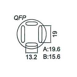 Nástavec na vyfoukávačku QFP 13,2x19mm
