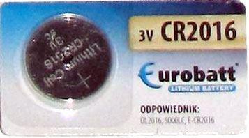 Baterie EUROBATT CR2016 3V lithiová, blistr