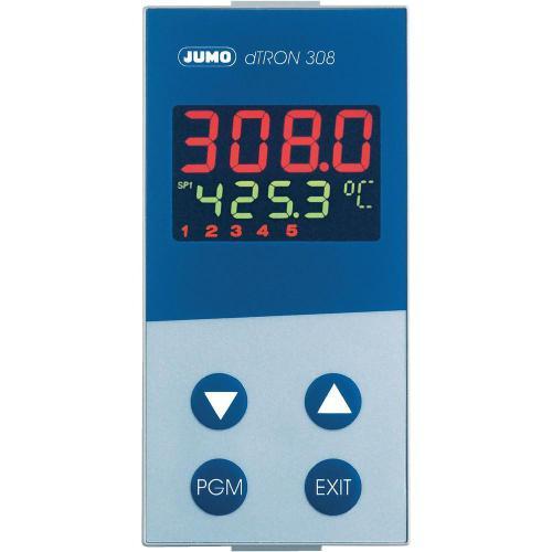 Panelový termostat JUMO dTRON 308, 110 - 240 V/AC, 45 x 92 mm, třístupňový