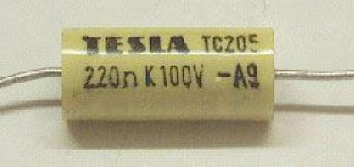 220n/100V TC205 /TC215/, svitkový kondenzátor axiální