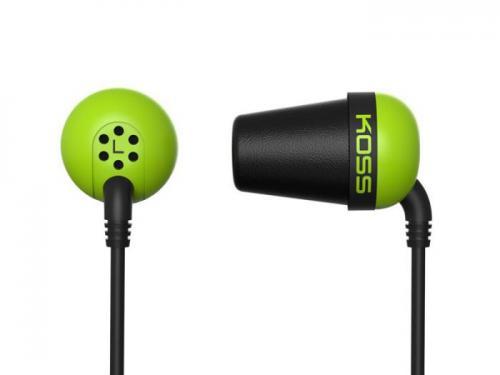 Sluchátka KOSS The PLUG Green sportovní design, zelené