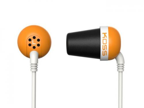 Sluchátka KOSS The PLUG Orange sportovní design, oranžové