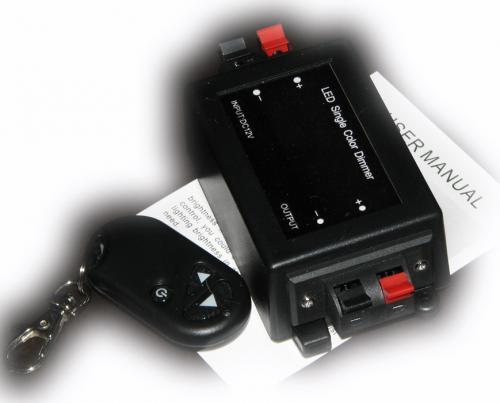 Stmívač pro 12V LED pásky (max 12V / 8A / 96W) s dálkovým ovládáním