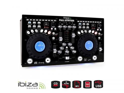 Pult mixážní IBIZA FULL-STATION s dvoj CD/USB/SD