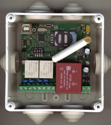 GSM ovladač - 2xvýstup krytí IP65