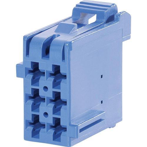 Pouzdro TE Connectivity J-P-T (1-965640-1), zásuvka rovná, 5 mm, modré