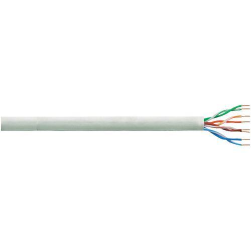 Síťový kabel F/UTP Cat 6 LogiLink Q2305U, nestíněný, 305 m, šedá